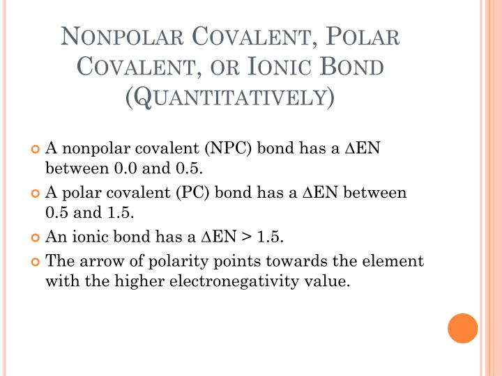 Ppt Covalent Bonds Electronegativity Differences And Ionicpolar