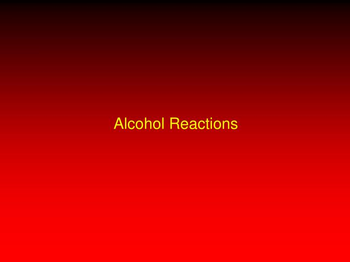 drugs and alchohl reaction paper