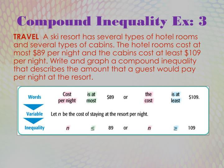 Compound Inequality Ex: 3