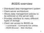 irods overview