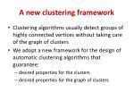 a new clustering framework