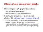 planar k core component graphs