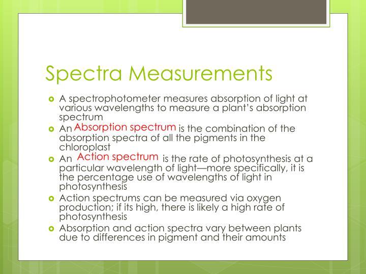Spectra Measurements