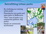 retrofitting urban parks