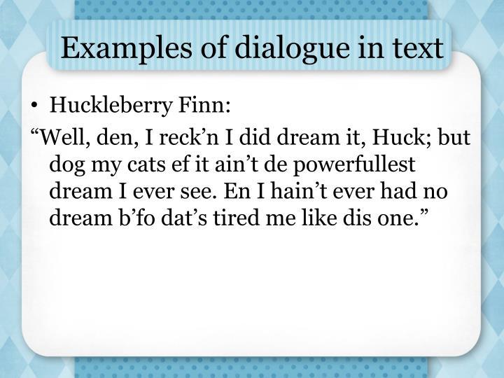 huck finn dialect