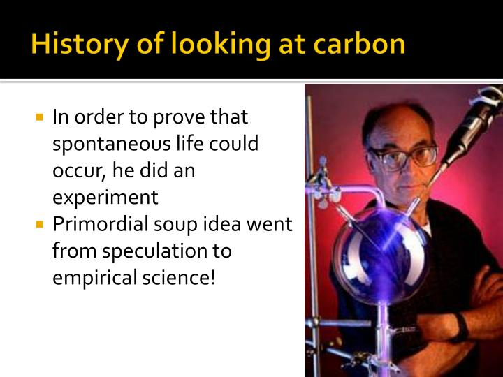 History of looking at carbon