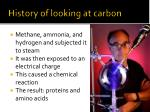 history of looking at carbon2
