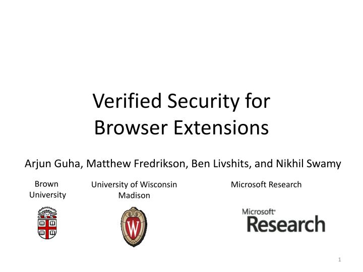 verified security for browser extensions n.