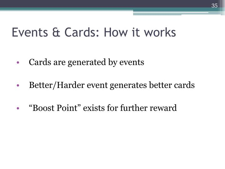 Events & Cards: How it works