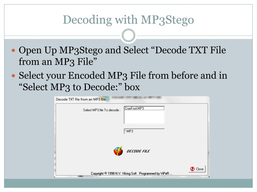 PPT - Audio Stego – A Brief How To PowerPoint Presentation