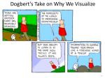 dogbert s take on why we visualize