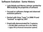 software evolution some history