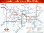 london underground map 1990s