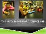the britt elementary science lab