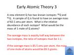 early atomic theory 31