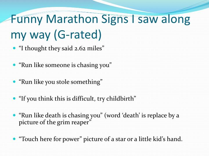 funny marathon signs i saw along my way g rated n.