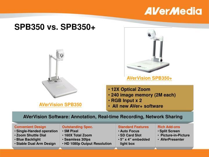 SPB350 vs. SPB350+
