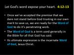 let god s word expose your heart 4 12 132