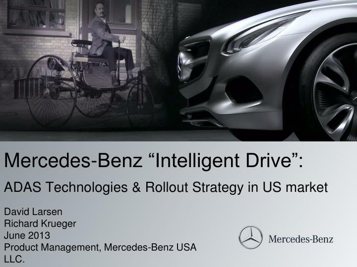 mercedes benz intelligent drive adas technologies rollout strategy in us market n.