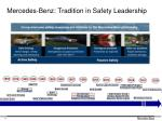 mercedes benz tradition in safety leadership