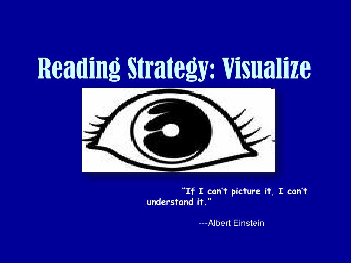 Reading strategy visualize