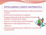 intelligenza logico matematica