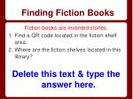 finding fiction books