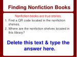 finding nonfiction books
