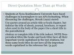 direct quotation more than 40 words