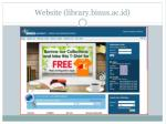 website library binus ac id