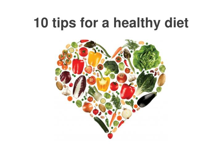 10 tips for a healthy diet n.