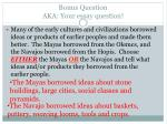 bonus question aka your essay question