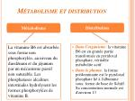 m tabolisme et distribution2