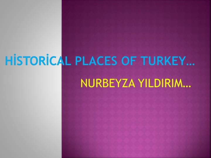 h stor cal places of turkey n.