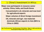 1 china s investment in africa