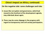 china s impact on africa continued