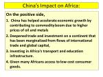 china s impact on africa1