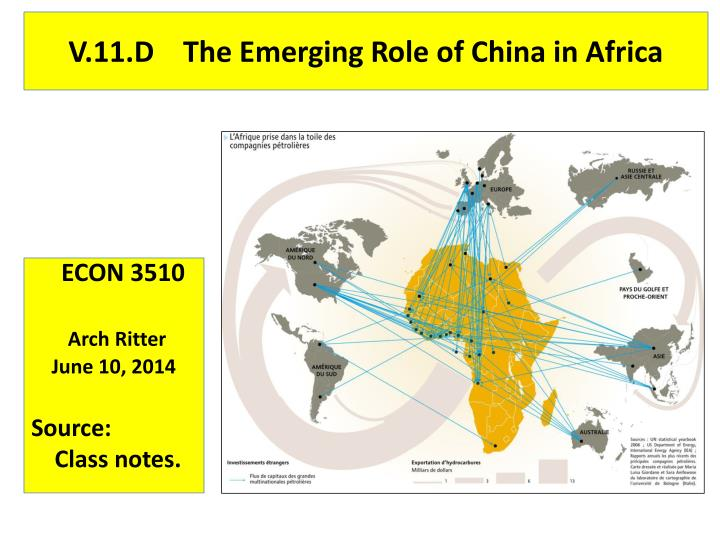 v 11 d the emerging role of china in africa