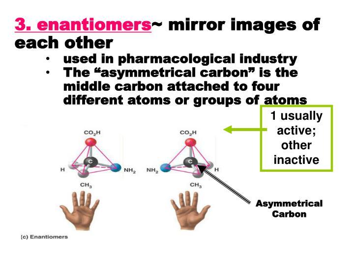 3. enantiomers