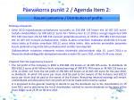 p evakorra punkt 2 agenda i tem 2