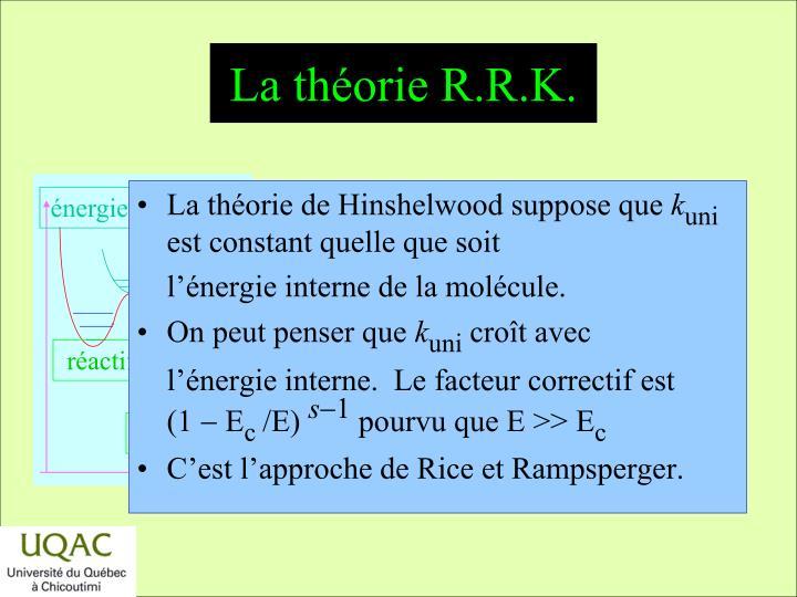 La théorie R.R.K.