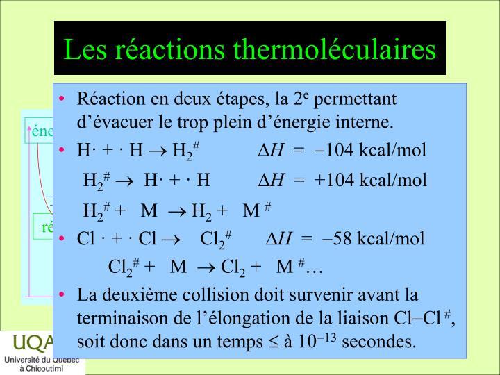 Les réactions thermoléculaires