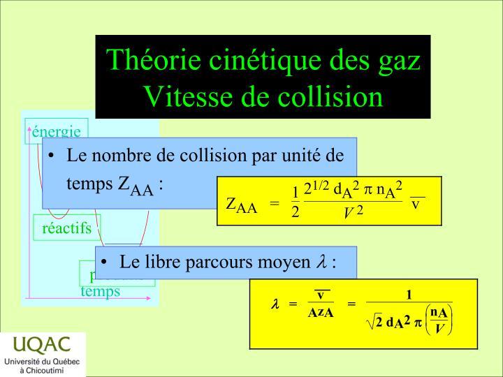 Théorie cinétique des gaz