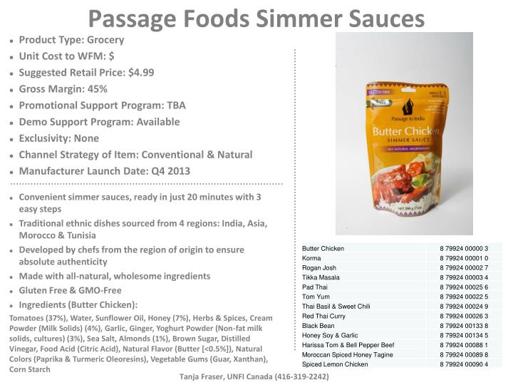 passage foods simmer sauces n.