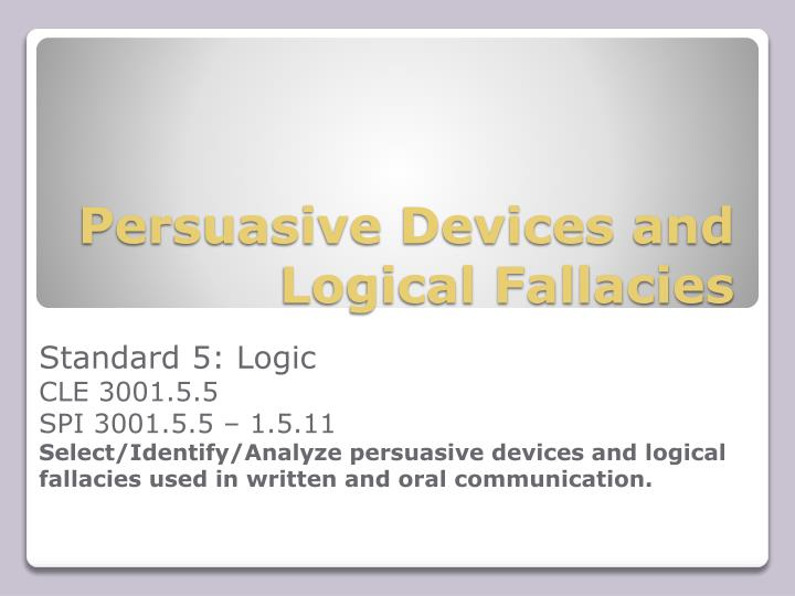 persuasive devices and logical fallacies n.