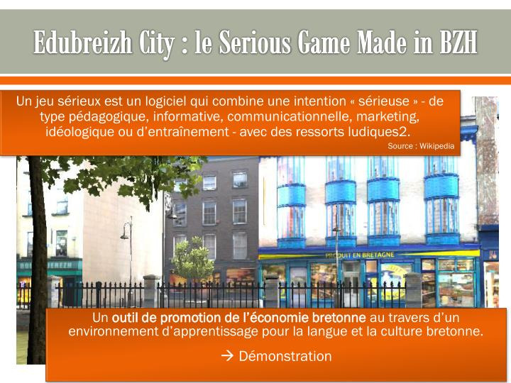 Edubreizh city le serious game made in bzh