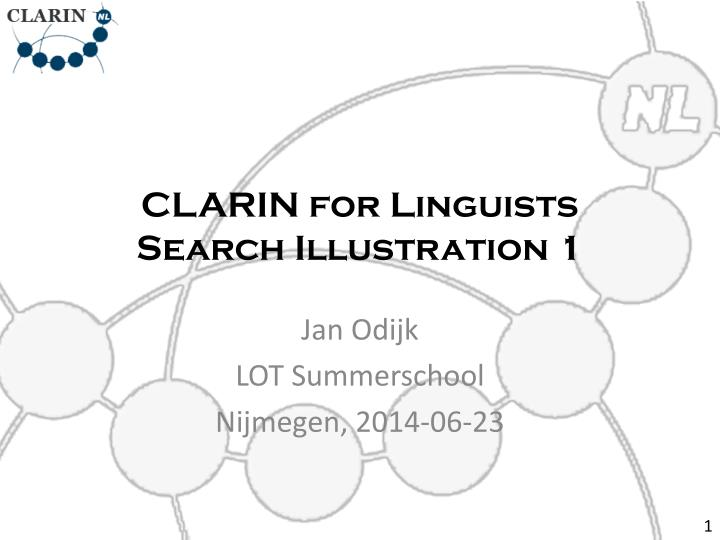 clarin for linguists search illustration 1 n.