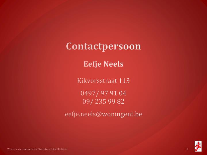 Contactpersoon