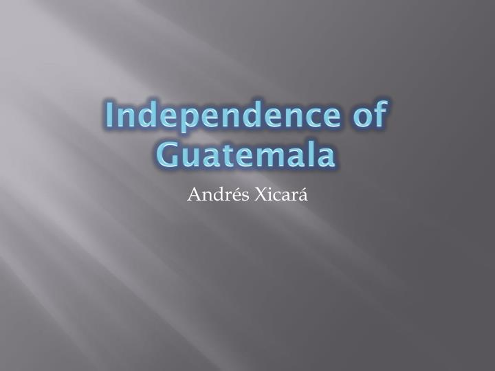 independence of guatemala n.