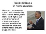 president obama at his inauguration